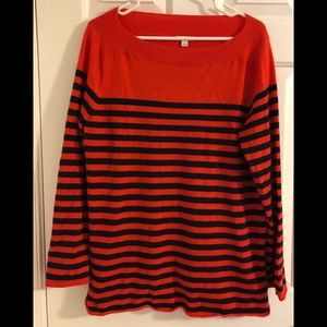 GAP Red and Navy Blue Striped Sweater Size Large